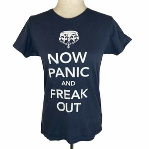 """Threadless """"Now Panic And Freak Out"""" Tee sz M"""